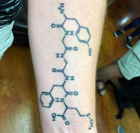 wicked tattoos chemical table forearm tattoo